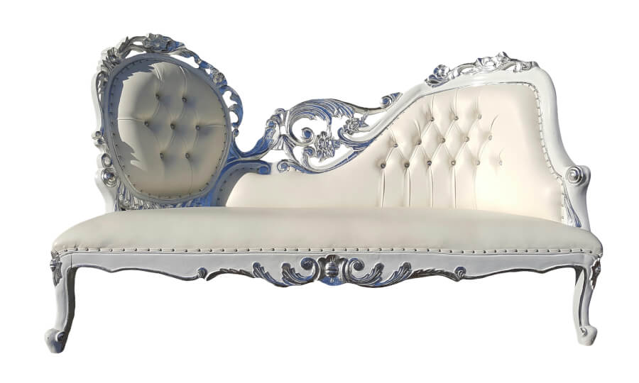 Silver Filigree Chaise | Uniquely Chic Vintage