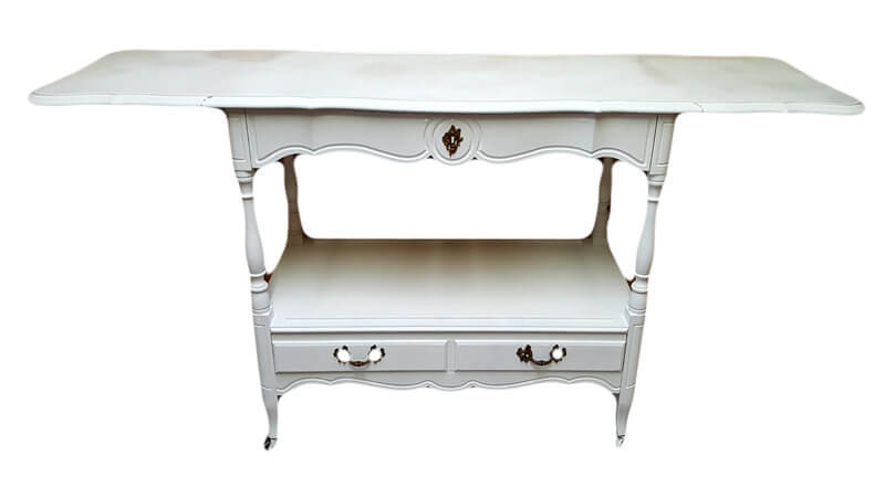 French White Serving Cart | Uniquely Chic Vintage