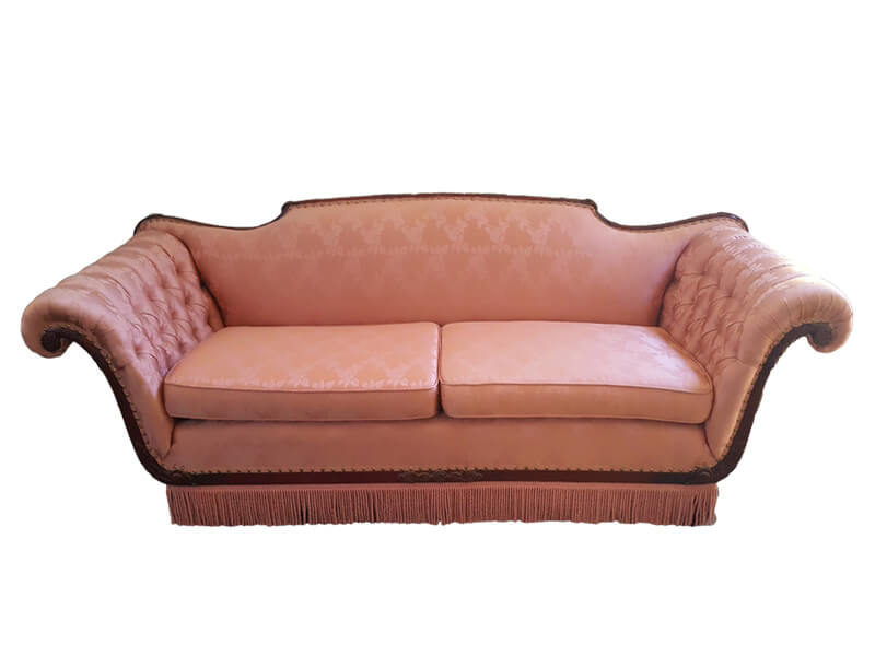 Pink Satin Tufted