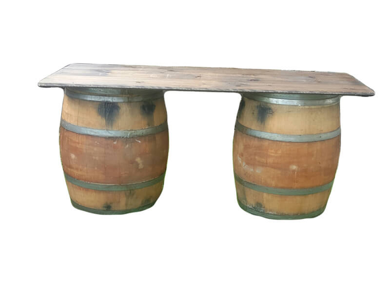 Whiskey Barrel Bar   Uniquely Chic Vintage Rentals