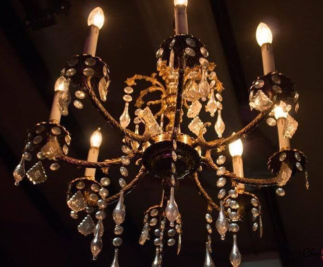 Antique Gold & Crystal Chandelier | Uniquely Chic Vintage Rentals