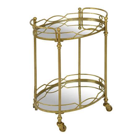 Gold Mirrored Bar Cart | Uniquely Chic Vintage Rentals