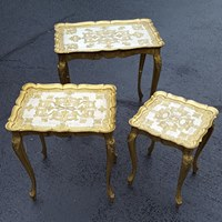 Gold Italian Nesting Tables | Uniquely Chic Vintage Rentals