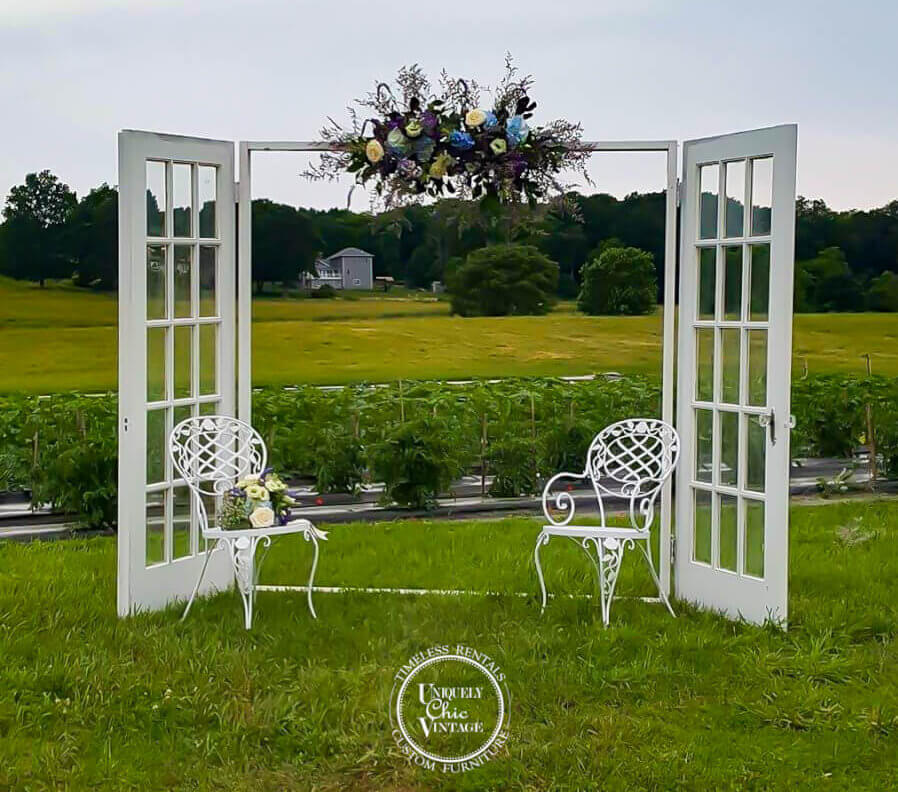 French Door Arbor | Uniquely Chic Vintage Rentals
