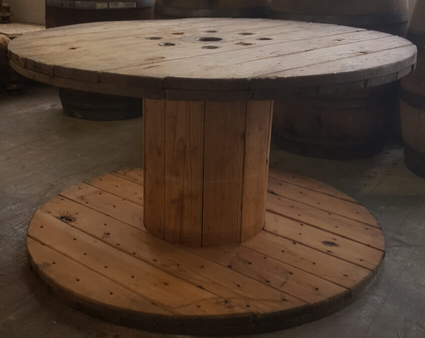Rustic Wooden Spool Table | Uniquely Chic Vintage Rentals