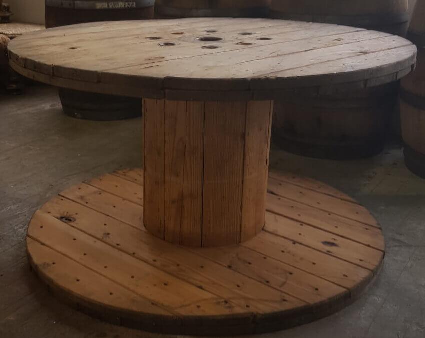Rustic Wooden Spool Table | Uniquely Chic Vintage Rentals