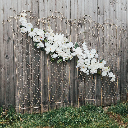Gold Flower Trellis