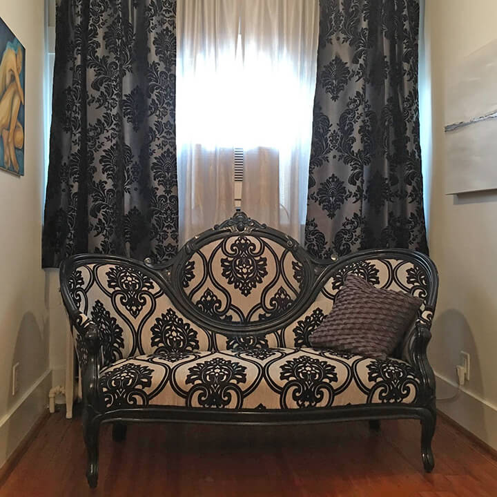 Image result for black and gold brocade curtains