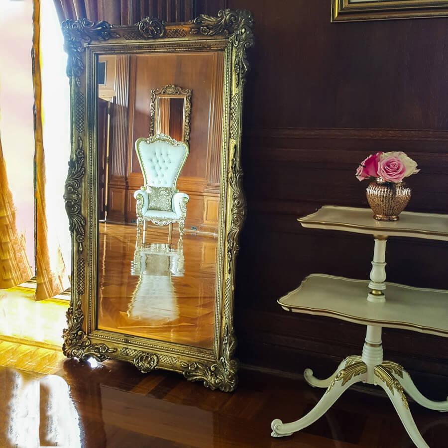 Large Antique Gold Mirror   Uniquely Chic Vintage Rentals