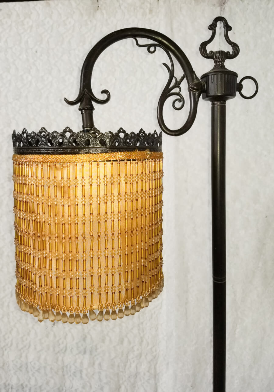 Art Deco Beaded Floor Lamp (Close Up) | Uniquely Chic Vintage Rentals