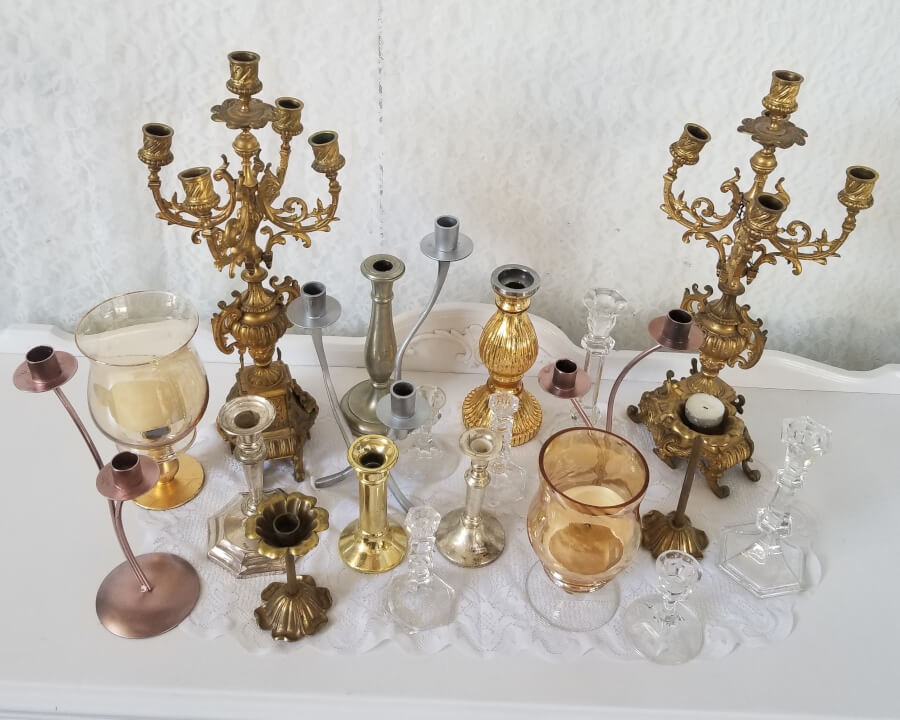 Miscellaneous Mix & Match Candlesticks & Candelabras | Uniquely Chic Vintage Rentals