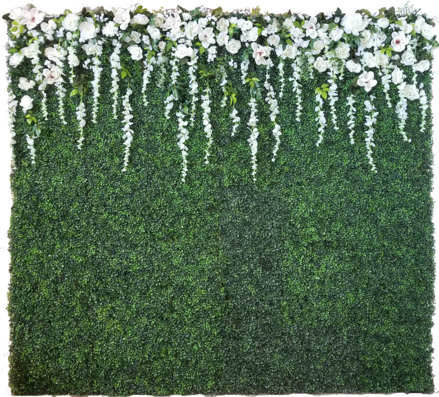Romantic Boxwood Backdrop | Uniquely Chic Vintage Rentals