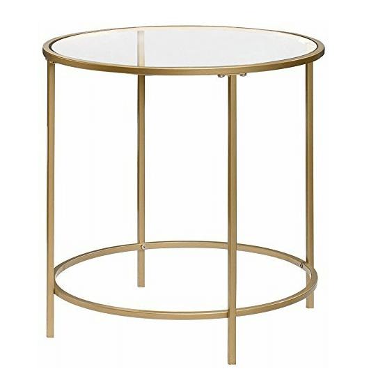 Round Glass End Tables | Uniquely Chic Vintage Rentals