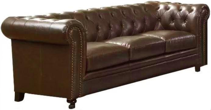 Brown Leather Sofa | Uniquely Chic Vintage Rentals
