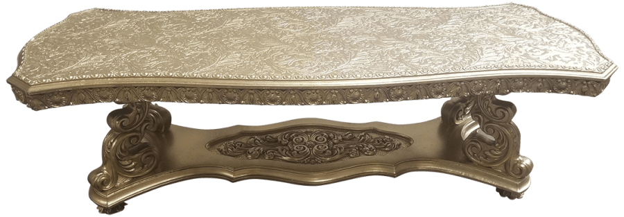 Victorian Gold Coffee Table | Uniquely Chic Vintage Rentals