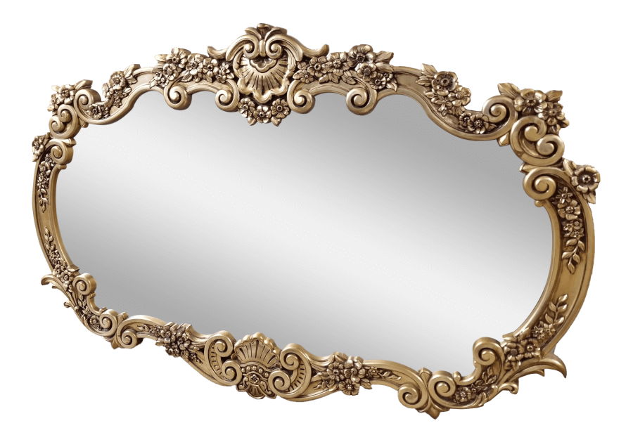 Ornate French Oval Mirror | Uniquely Chic Vintage Rentals