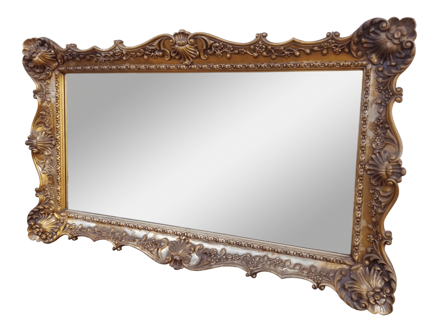 Hollywood Regency Rectangle Mirror | Uniquely Chic Vintage Rentals