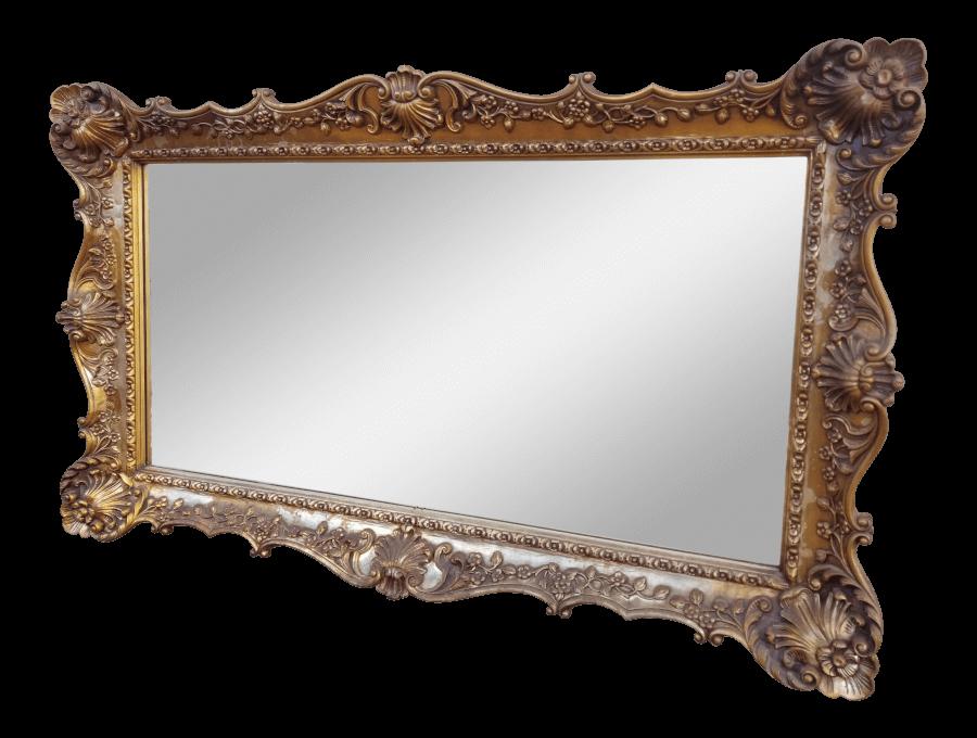 Hollywood Regency Rectangle Mirror | Uniquely Chic Vintage Rentals