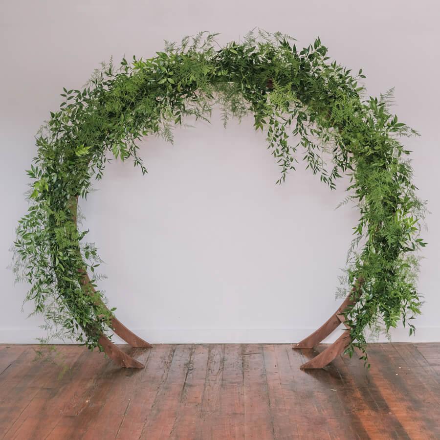 Round Wooden Circular Arbor | Uniquely Chic Vintage Rentals