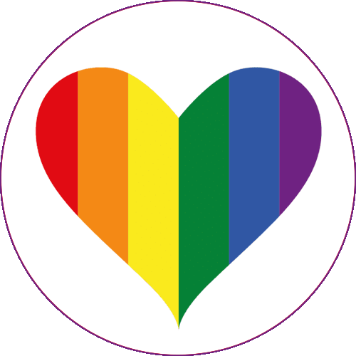 rainbow pride heart
