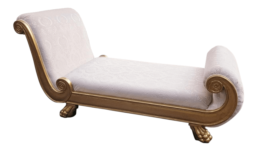 Hollywood Regency Chaise | Uniquely Chic Vintage Rentals