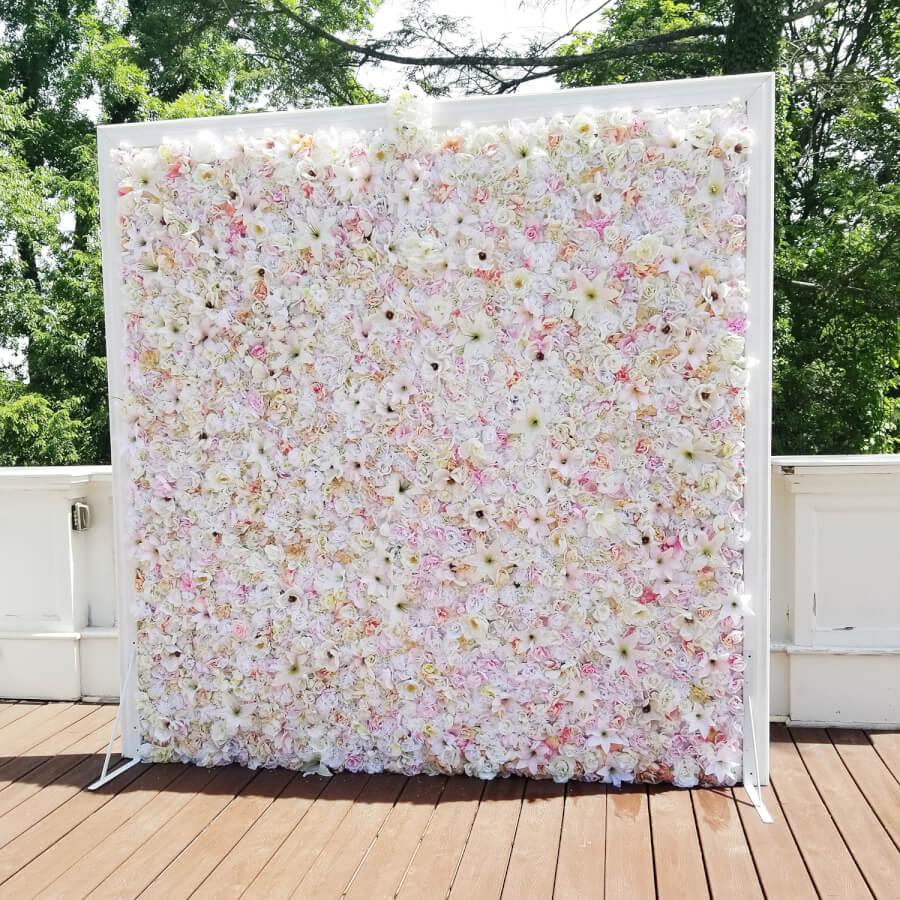 White Flower Wall | Uniquely Chic Vintage Rentals