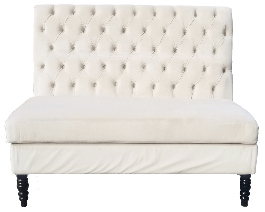 White Sweetheart Bench | Uniquely Chic Vintage Rentals