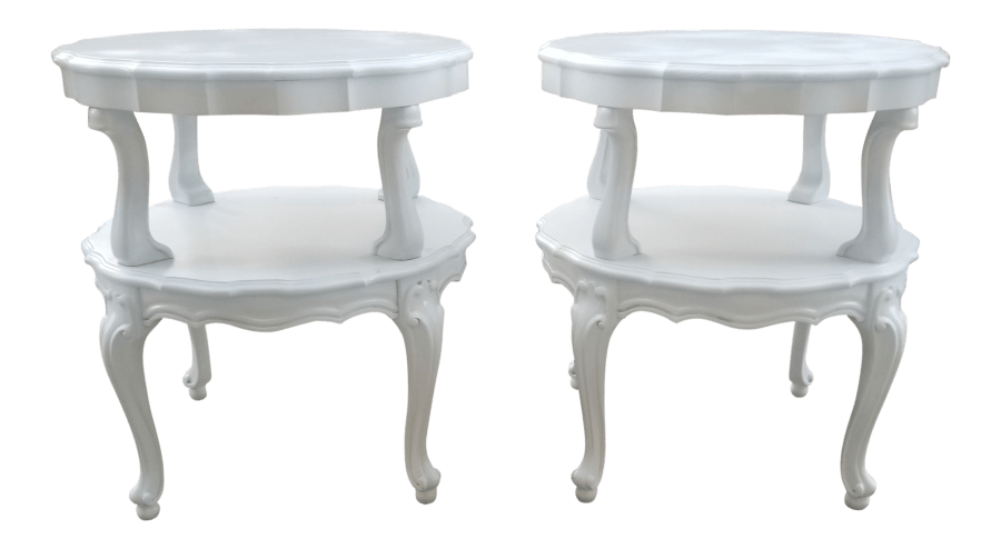 French Tiered Side Tables | Uniquely Chic Vintage Rentals