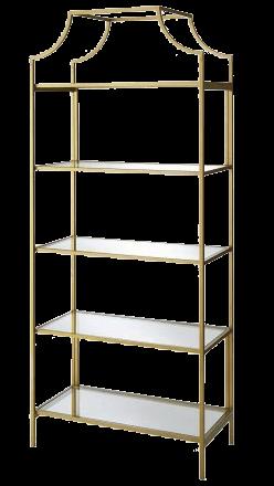 Ornate Gold & Glass Shelf | Uniquely Chic Vintage Rentals