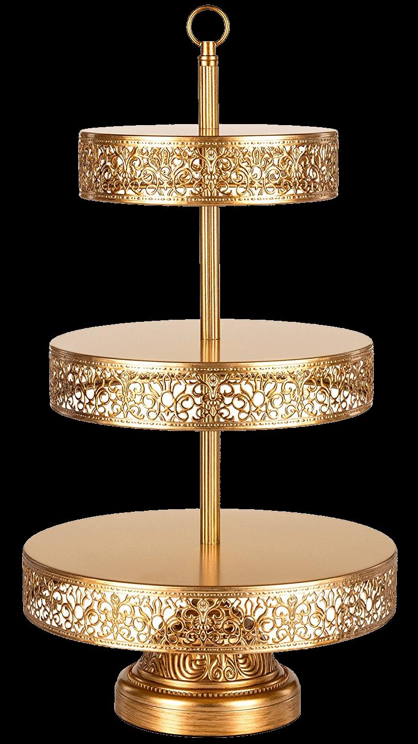Gold Filigree Tiered Dessert Stand | Uniquely Chic Vintage Rentals