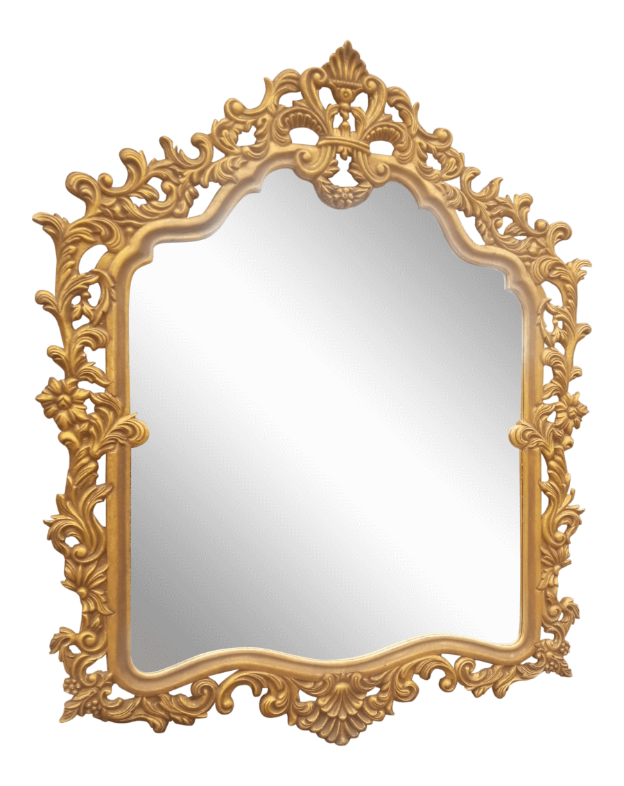 Hollywood Regency Gilded Wall Mirror | Uniquely Chic Vintage Rentals