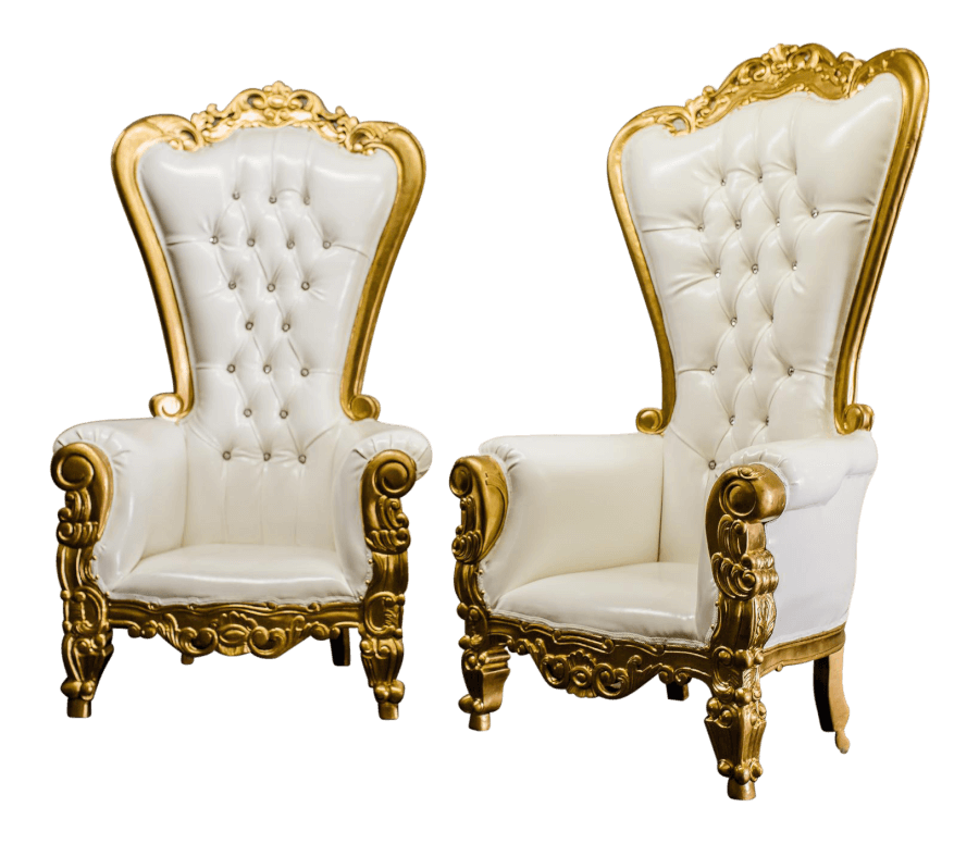 Gold Throne Chairs | Uniquely Chic Vintage Rentals