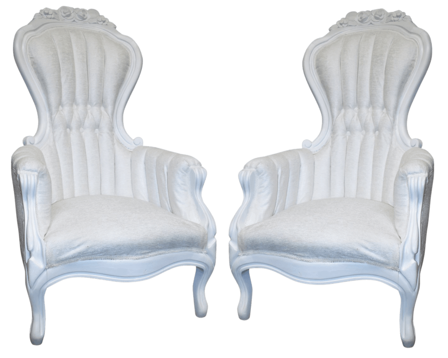 White Velvet Chairs | Uniquely Chic Vintage Rentals