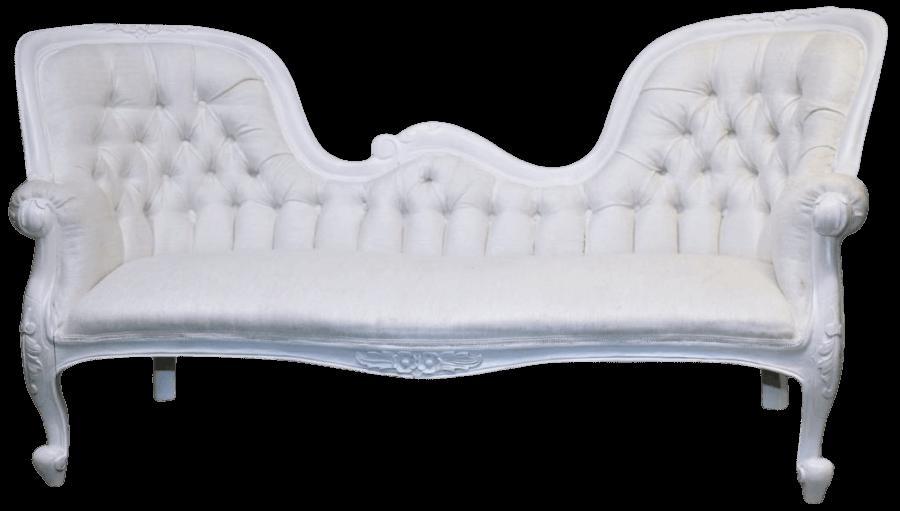 White Velvet Sofa | Uniquely Chic Vintage Rentals