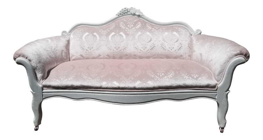 Blush Pink Velvet Loveseat | Uniquely Chic Vintage Rentals