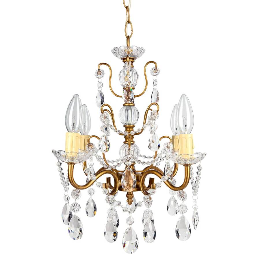 Gold & Crystal Chandelier | Uniquely Chic Vintage Rentals