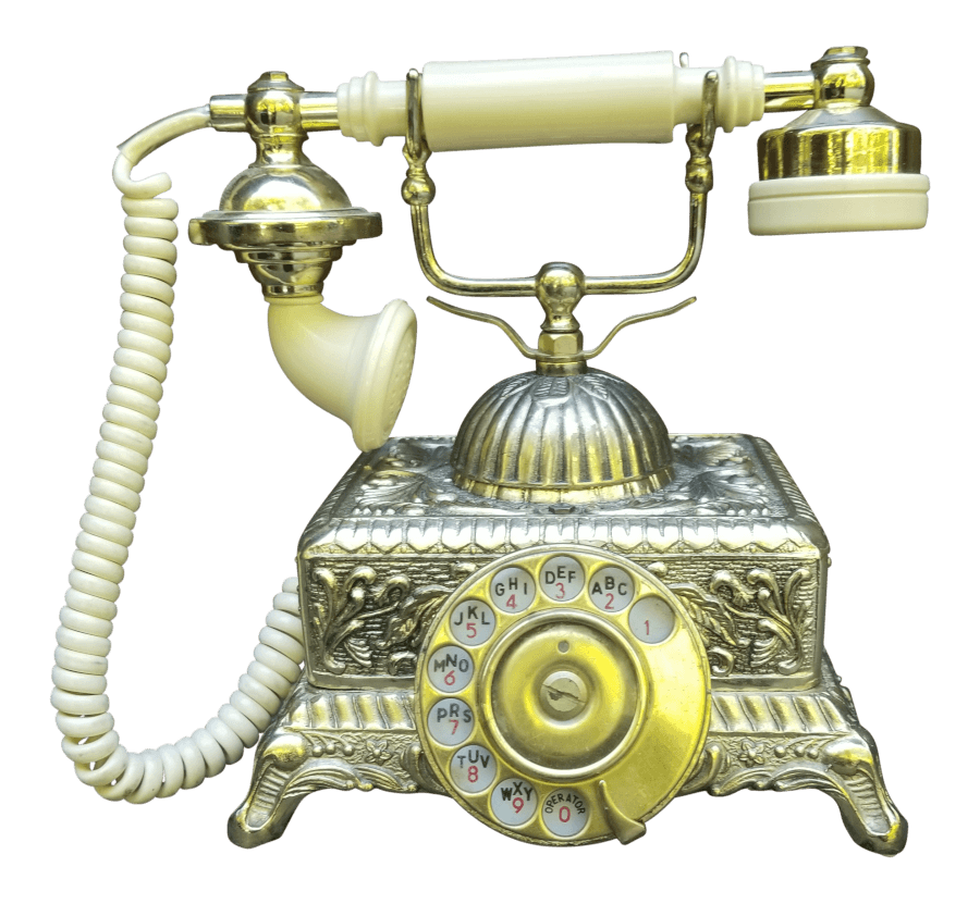 Victorian Gold Telephone | Uniquely Chic Vintage Rentals