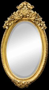 Victorian Oval Gold Leaf Mirror | Uniquely Chic Vintage Rentals