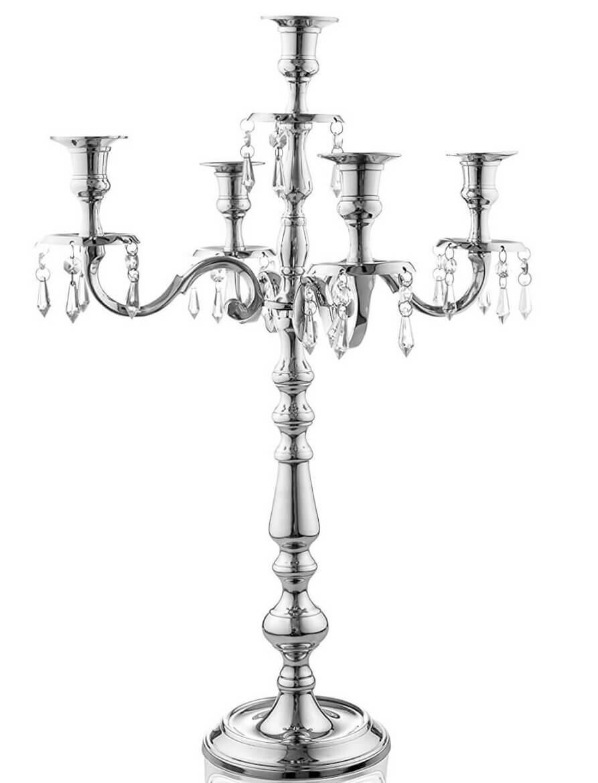 Silver Crystal Candelabras | Uniquely Chic Vintage Rentals