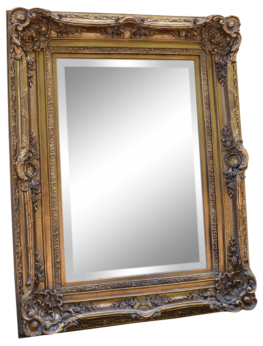 Ornate Gilt Wood Gold Mirror | Uniquely Chic Vintage Rentals