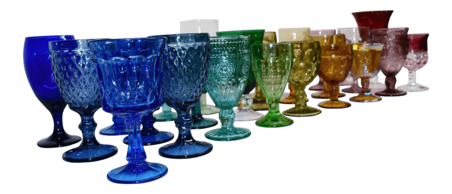 Colorful Glass Goblets | Uniquely Chic Vintage Rentals