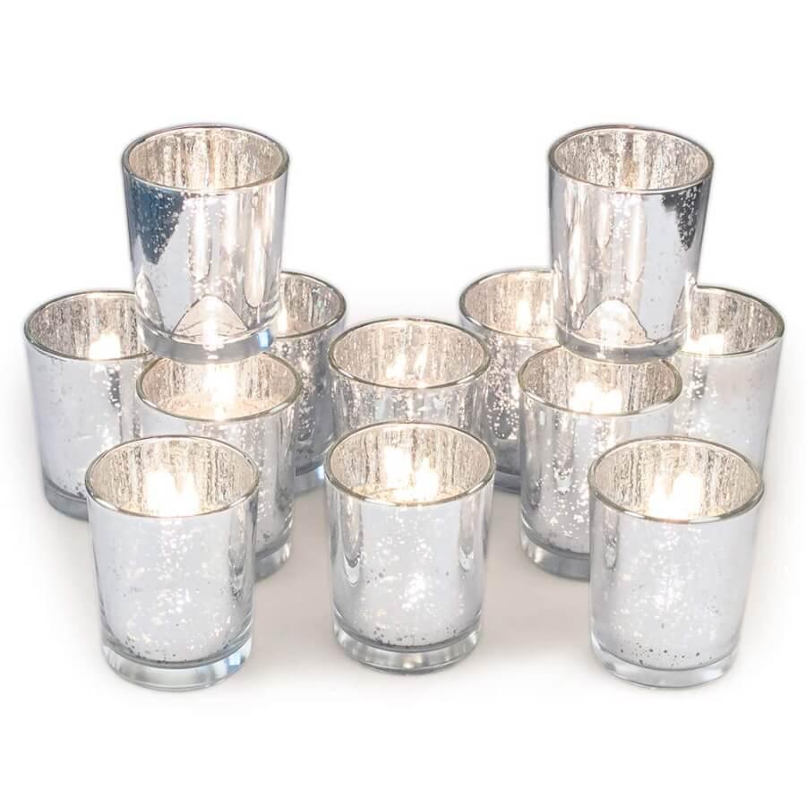 Silver Mercury Glass Votives | Uniquely Chic Vintage Rentals