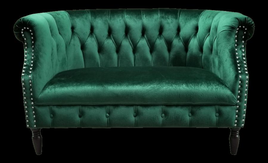 Emerald Green Velvet Loveseat | Uniquely Chic Vintage Rentals