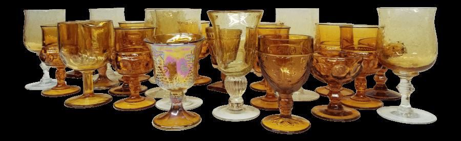 Amber Glass Goblets | Uniquely Chic Vintage Rentals