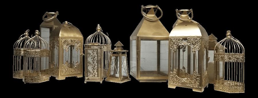 Vintage Gold Lanterns | Uniquely Chic Vintage Rentals