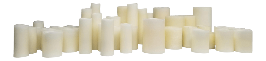 White & Ivory Pillar Candles | Uniquely Chic Vintage Rentals