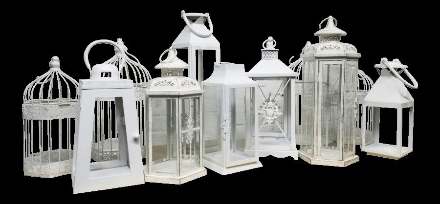 Vintage White & Ivory Lanterns | Uniquely Chic Vintage Rentals
