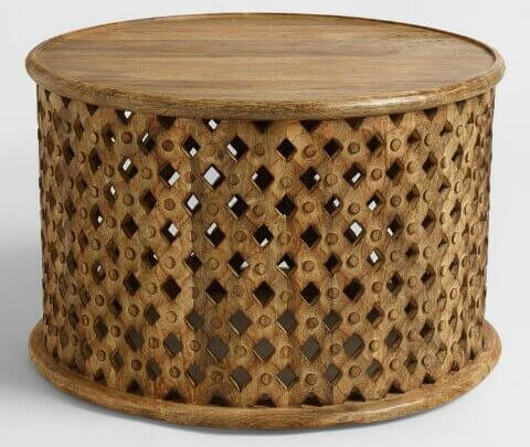 Boho Wooden Coffee Table | Uniquely Chic Vintage Rentals