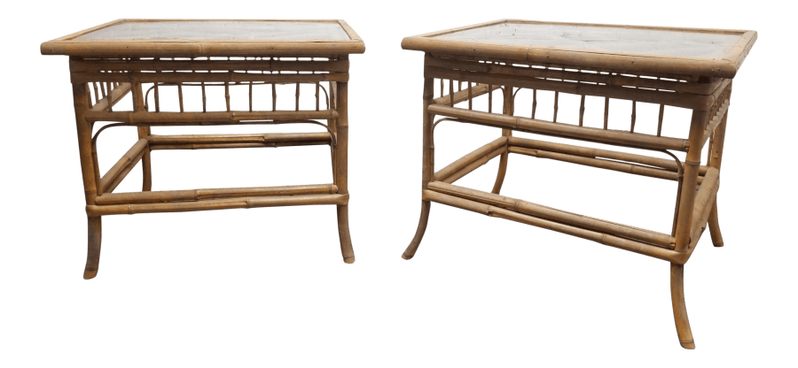 Boho Bamboo Side Tables | Uniquely Chic Vintage Rentals