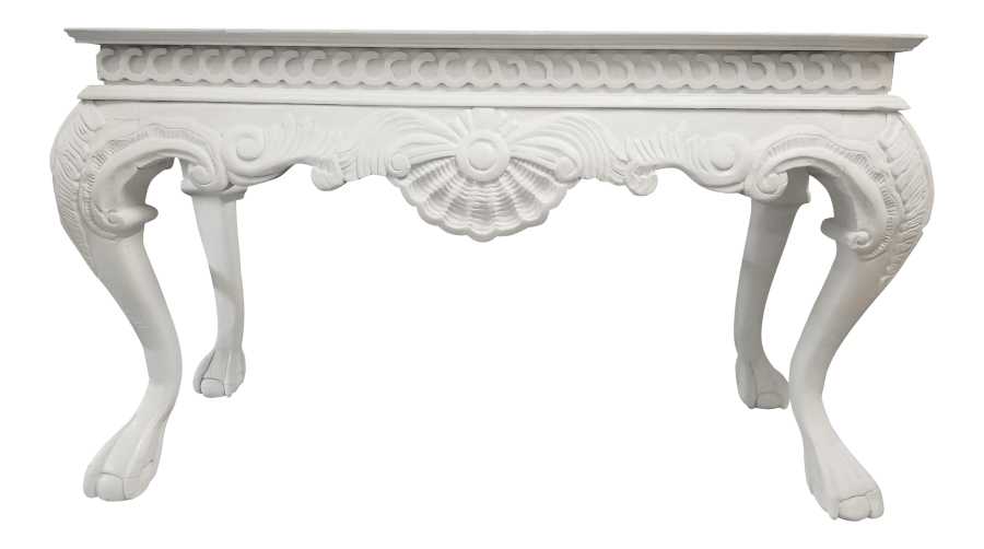 Italian Baroque White Table | Uniquely Chic Vintage Rentals